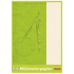 HERLITZ Bloc de 20 feuilles de Papier millimétré A3 80 g Rouge