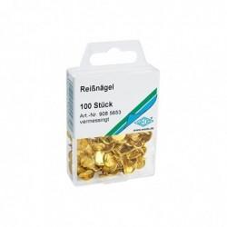 WEDO Punaises, laiton, diamètre: 10 mm