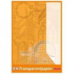 HERLITZ Bloc 25 Feuilles Papier transparent format A3, 65 g blanc