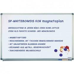 MAGNÉTOPLAN Tableau blanc Magnétique Laqué Cadre Alu (L)1200 x (H)900 mm
