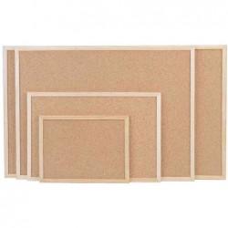 MAGNÉTOPLAN Tableau liège pressé cadre bois 600 x 400 mm