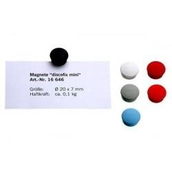 """MAGNÉTOPLAN Discofix aimant rond """"mini"""", gris"""