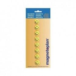 MAGNÉTOPLAN aimants smiley, 20 mm, contenu: 8 pièces