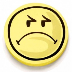 MAGNÉTOPLAN Pqt de 100 Symboles d'évaluation Smilies Rond Négatif