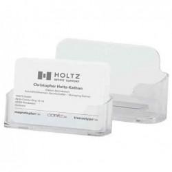MAGNÉTOPLAN Présentoir Porte-cartes de visite (L)96 x (P)20 x (H)45 mm Transparent