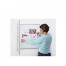 MAGNÉTOPLAN Vitrine d'affichage intérieur SP 6 x A4 Fond blanc Magnétique L 87 x H 75 cm