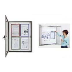 MAGNÉTOPLAN vitrine d'affichage CC, 9 x format A4, pour