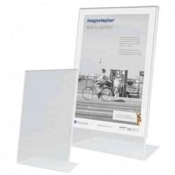MAGNÉTOPLAN Présentoir de table Acrylique A4 à la francaise Incliné Transparent