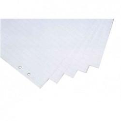 MAGNÉTOPLAN Pack de 5 Blocs papier Uni / Quadrilée 65x93 cm pour chevalet de conférence
