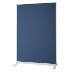 MAGNÉTOPLAN Cloison de séparation, en textile, bleu cadre en aluminum 1.25 x 0.5 x 1.8 m