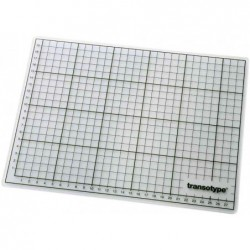 TRANSOTYPE Plaque de coupe (L)600 x (P)450 x (H)3 mm Transparent
