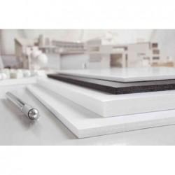 TRANSOTYPE Carton Polystyrène 500 x 700 mm, blanc, 5 mm Lot de 25