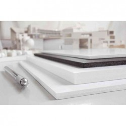 TRANSOTYPE Carton Polystyrène 500 x 700 mm, blanc, 3 mm Lot de 25