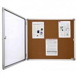 MAGNÉTOPLAN Vitrine d'affichage SP Interieur Fond liège pour 6 formats A4 L87xH75 cm