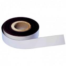 MAGNÉTOPLAN Ruban magnétique PVC à découper 50 mm x30 m Blanc