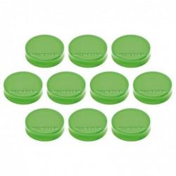 """MAGNÉTOPLAN pack dez 10 Aimants Ergo """"moyen"""", vert menthe Diamètre 30 mm"""