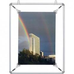 FRANKEN Porte affiches Alu à tendeurs pour format A1 Gris Argent