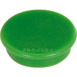 FRANKEN Paquet de 10 Aimants Ronds diam 24 mm Vert
