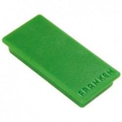 FRANKEN Paquet de 10 Aimants rectangulaire 50 x 23 mm Vert