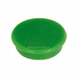 FRANKEN Set de 10 aimants de fixation, force adhésive: 800 g, diamètre 32 mm Rond Vert