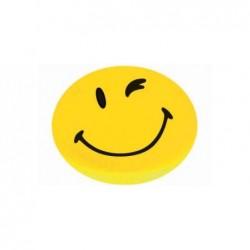 """FRANKEN Paquet de 4 Happy Aimant """"Smiley"""" Rond 40 mm Jaune"""