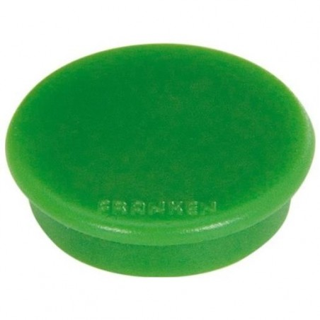 FRANKEN Lot de 10 aimants extra fort 38 mm H 12 mm anti-rayure Vert