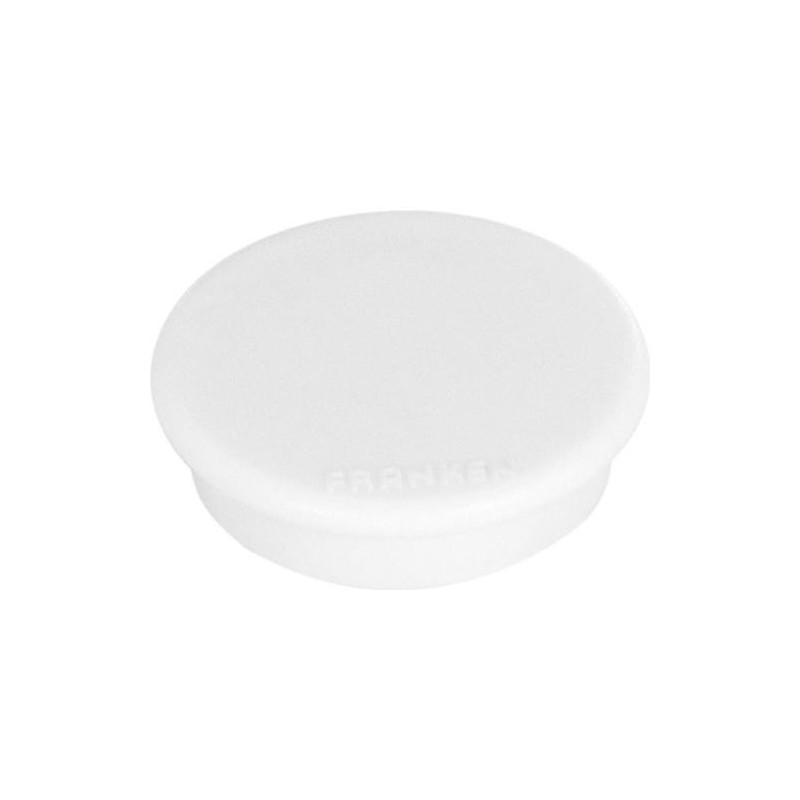 FRANKEN Lot de 10 aimants extra fort 38 mm H 12 mm anti-rayure Blanc