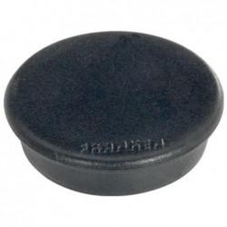 FRANKEN Lot de 10 aimants extra fort 38 mm H 12 mm anti-rayure Noir