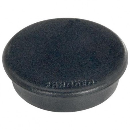 FRANKEN Lot de 10 aimants extra fort 38 mm H 12 mm anti-rayure Noir