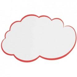 FRANKEN Lot de 20 Fiches nuage pour présentation, 230 x 140 mm, blanc