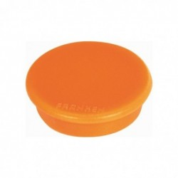FRANKEN Paquet de 10 aimants 32 mm, orange force 800g