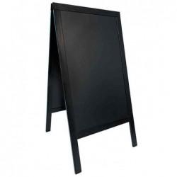 SECURIT Panneau trottoir WOODY avec tableau noir Cadre Noir 70 x 125 cm