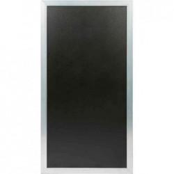 SECURIT Cloison / Tableau / Pare vue MULTI BOARD Tableau noir Cadre Argent 60 x 115 cm