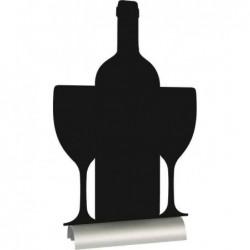 "SECURIT Ardoise de table SILHOUETTE ""vin"""