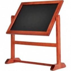 SECURIT Présentoir de table TWISTER Rotatif 28 x 26 cm Acajou