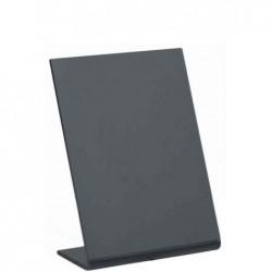 SECURIT Lot de 5 Ardoises de table L-BOARDS A7 Noir