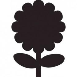 SECURIT Tableau à Craie SILHOUETTE 39 x 43 cm Forme Fleur