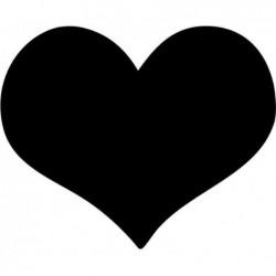 SECURIT Tableau à Craie SILHOUETTE 36 x 30 cm Forme Coeur