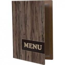 SECURIT Protège-menus DESIGN WOOD, A4, marron