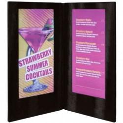 SECURIT Protège-menus LED (L)190 x (H)350 mm Noir