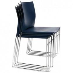 """TOPSTAR chaise visiteur """"W-Chair"""", bleu marine"""
