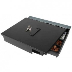 SAFESCAN Couvercle vérrouillable pour Tiroir Caisse SD-4141, HD-4141S, 4400 Noir