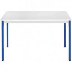 SODEMATUB Table universelle 148RGBL,1400x800,gris clair/bleu