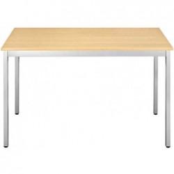 SODEMATUB Table universelle 188RHA, 1800 x 800, hêtre/alu