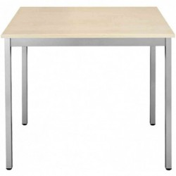 SODEMATUB Table universelle 126REA, 1200 x 600, érable/alu