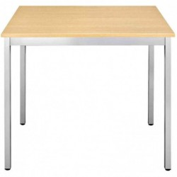 SODEMATUB Table universelle 126RHA, 1200 x 600, hêtre/alu