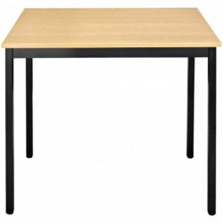 SODEMATUB Table rectangle universelle 1200 x 600 hêtre/noir