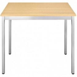SODEMATUB Table universelle 147RHA, 1400 x 700, hêtre/alu