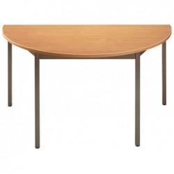 SODEMATUB Table de réunion 147DRPB, demi-rond,poirier/marron