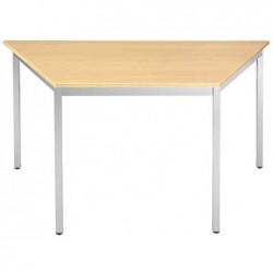 SODEMATUB Table de réunion 126THA, trapézoidale, hêtre/alu
